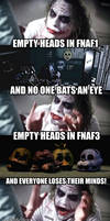 Joker reacts to the FNAF fandom after the end of 3