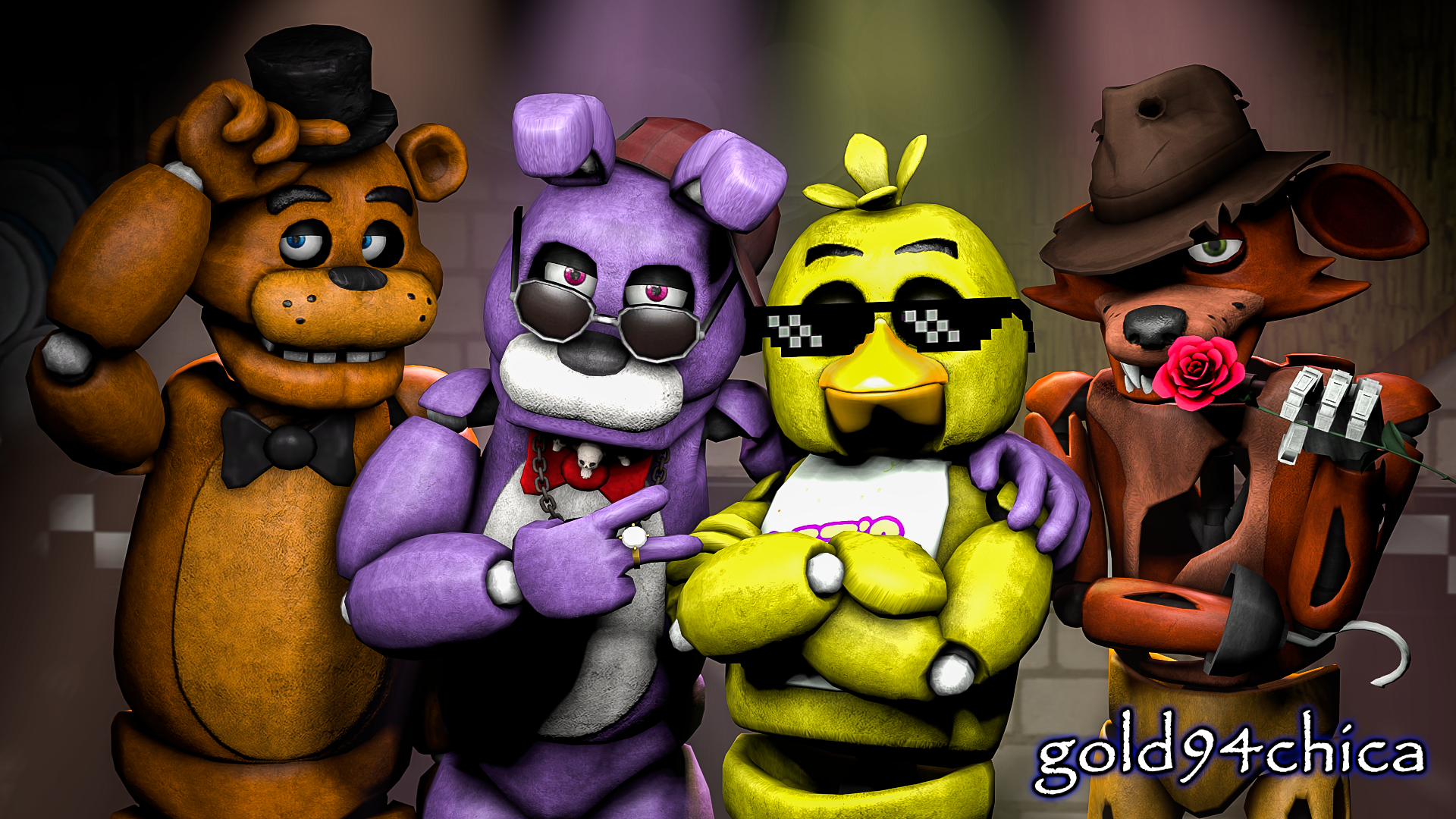Epic Friends Forever FNAF SFM Wallpaper By Gold94chica