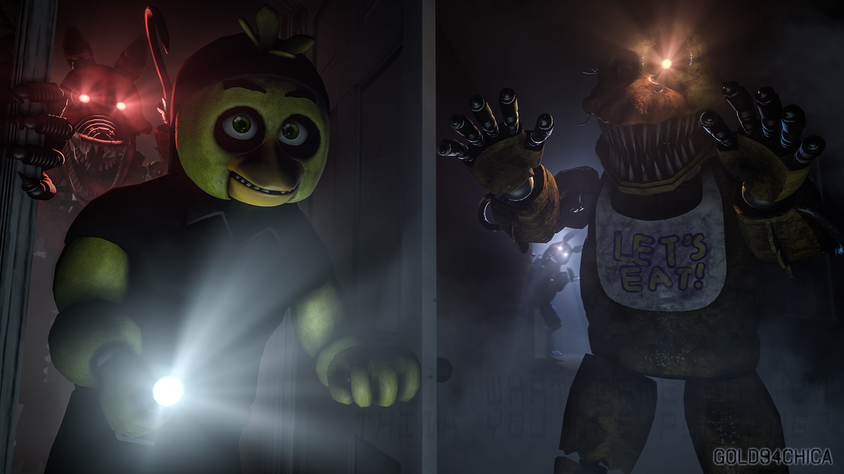 Five Nights at Freddy's 4 Nightmares (4k SFM) by gold94chica on DeviantArt