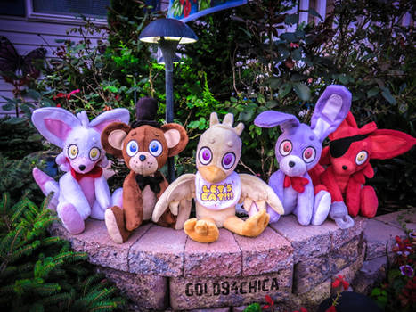 Five Handmade Five Nights at Freddy's Plushies