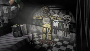 Withered Chica in Cam 04 (SFM Remake)