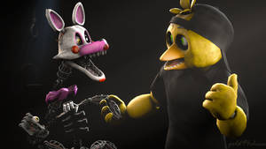 Come on Mangle, your friends are waiting for you