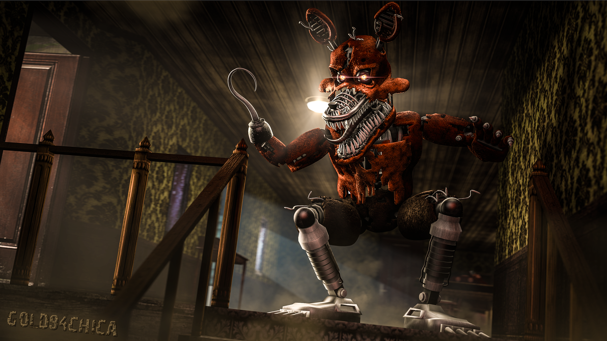 Nightmare Foxy 4k Wallpaper Sfm By Gold94chica On Deviantart