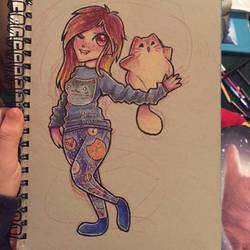 Sarah and Pudge by Katzun