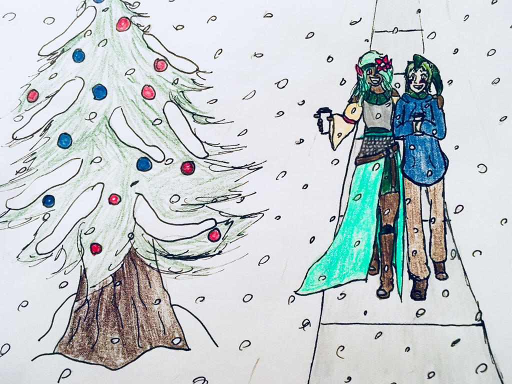 Secret Santa: Hot Cocoa in Snow by Silver13riolu