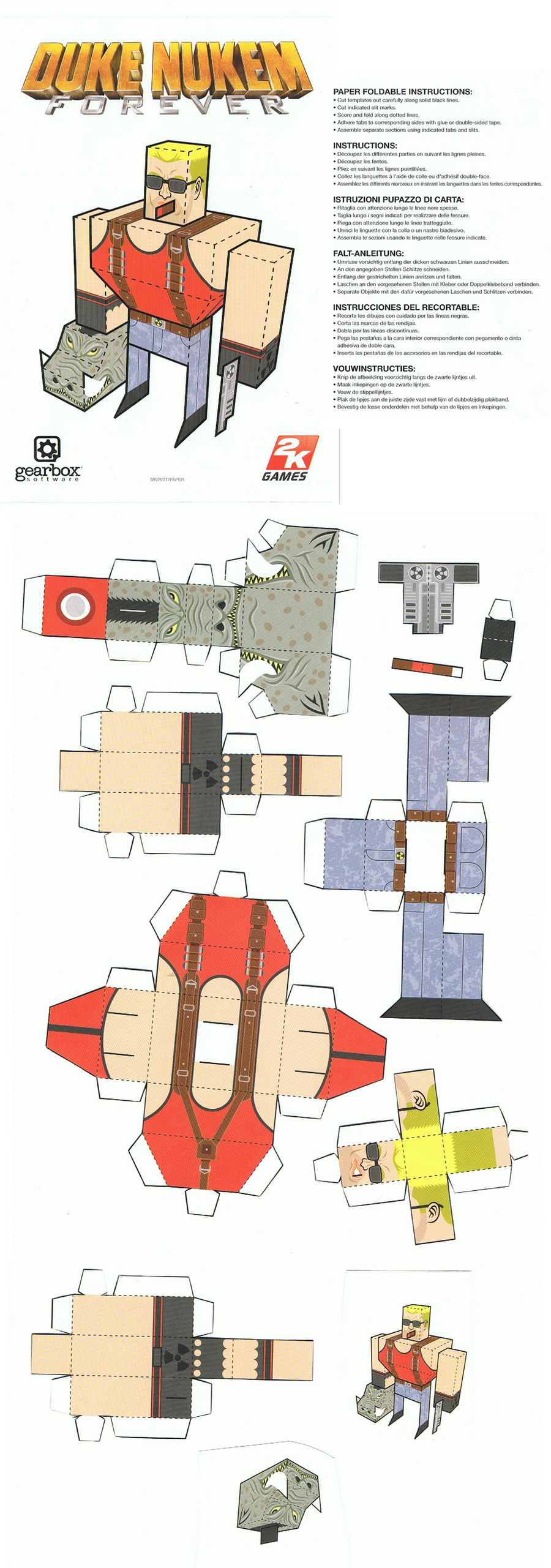 Duke Nukem Forever papercraft by chiefwrigley