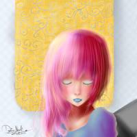 Random: Pink haired girl by thekawaiione