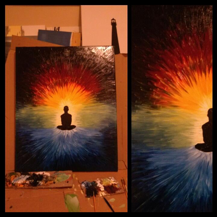 Meditating Shaman by TELEFONA