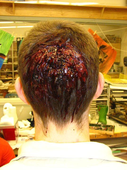 Gunshot wound EXIT makeup by TELEFONA on DeviantArt