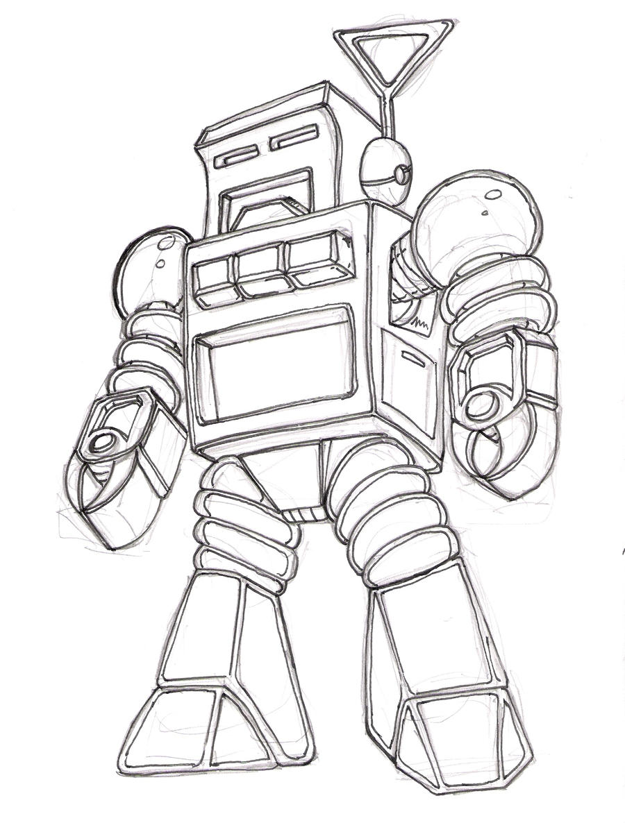 retro robot wip by pit...