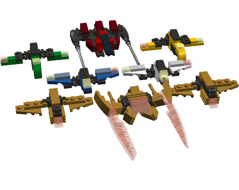 Space Ninja Fleet Fighter modes LDD by pittstop