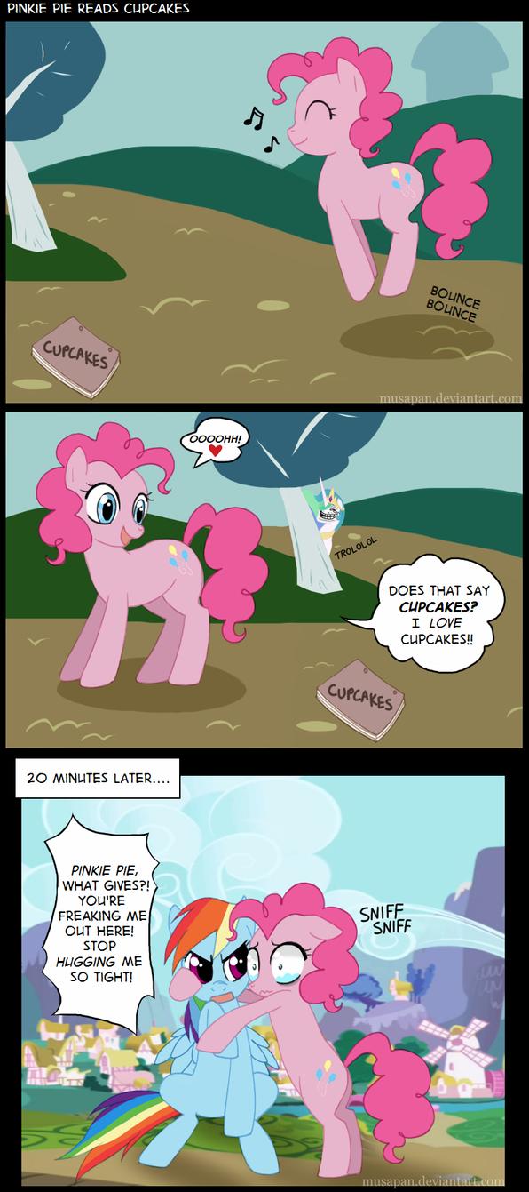 Pinkie Pie Reads Cupcakes by Musapan