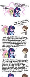 Equestria Girls vs Bronies by Musapan