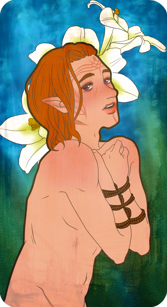 Inquisitor Lavellan Romance Card (Iron Bull) by Musapan