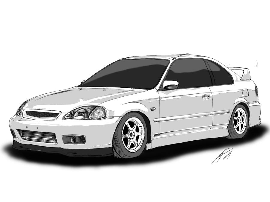 Civic Coupe Ek Stage 2 WIP by TwinFlow on DeviantArt