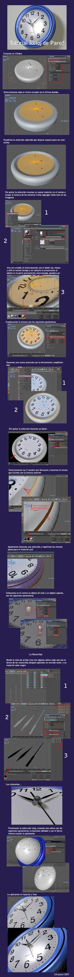 Tutorial Reloj de Pared by cd-planet