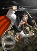 Strahd vs Azalin's army by SuiseiKillfaeh