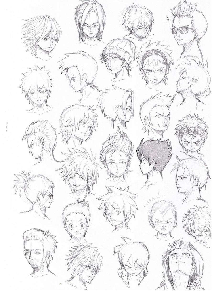 Anime Hair Male various hairstyles male by