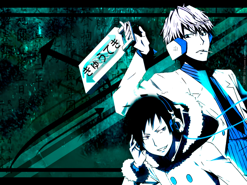 Izaya - Shizuo Wallpaper by lotras