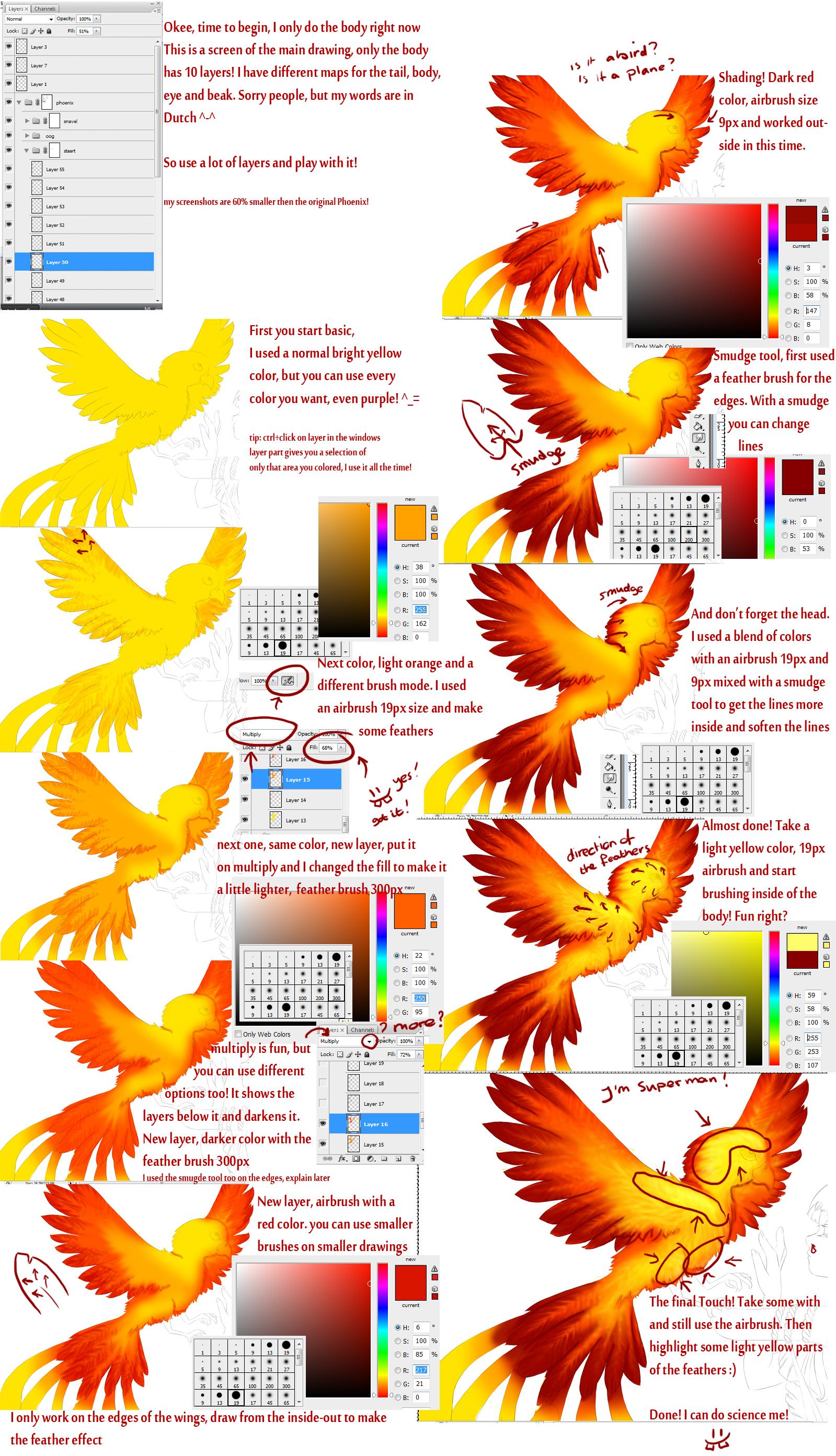Phoenix Photoshop Tutorial Phoenix Tutorial by Dutch