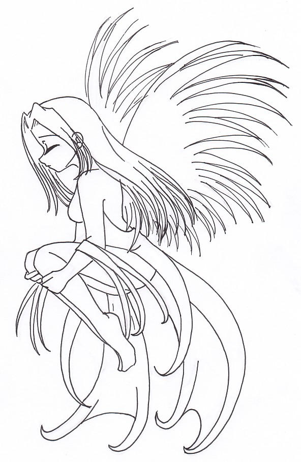 Angel Line Drawings