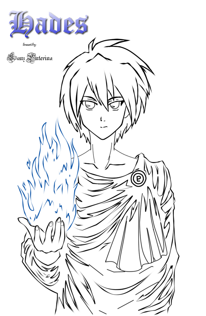 Hades line art by lanzart on deviantart for Hades coloring page