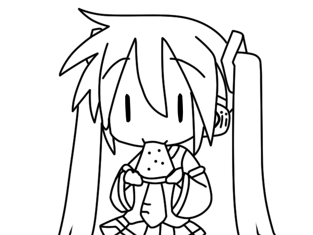 linearts favourites by firephoenixcreations on deviantart - Hatsune Miku Chibi Coloring Pages
