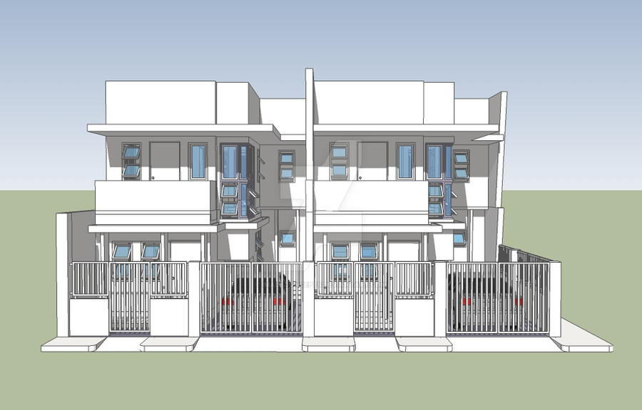 Townhouse design 180sqm lot b1 by imadeconcepts on deviantart for Townhouse architecture designs