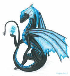 Ergien - black dragoness by Ergien