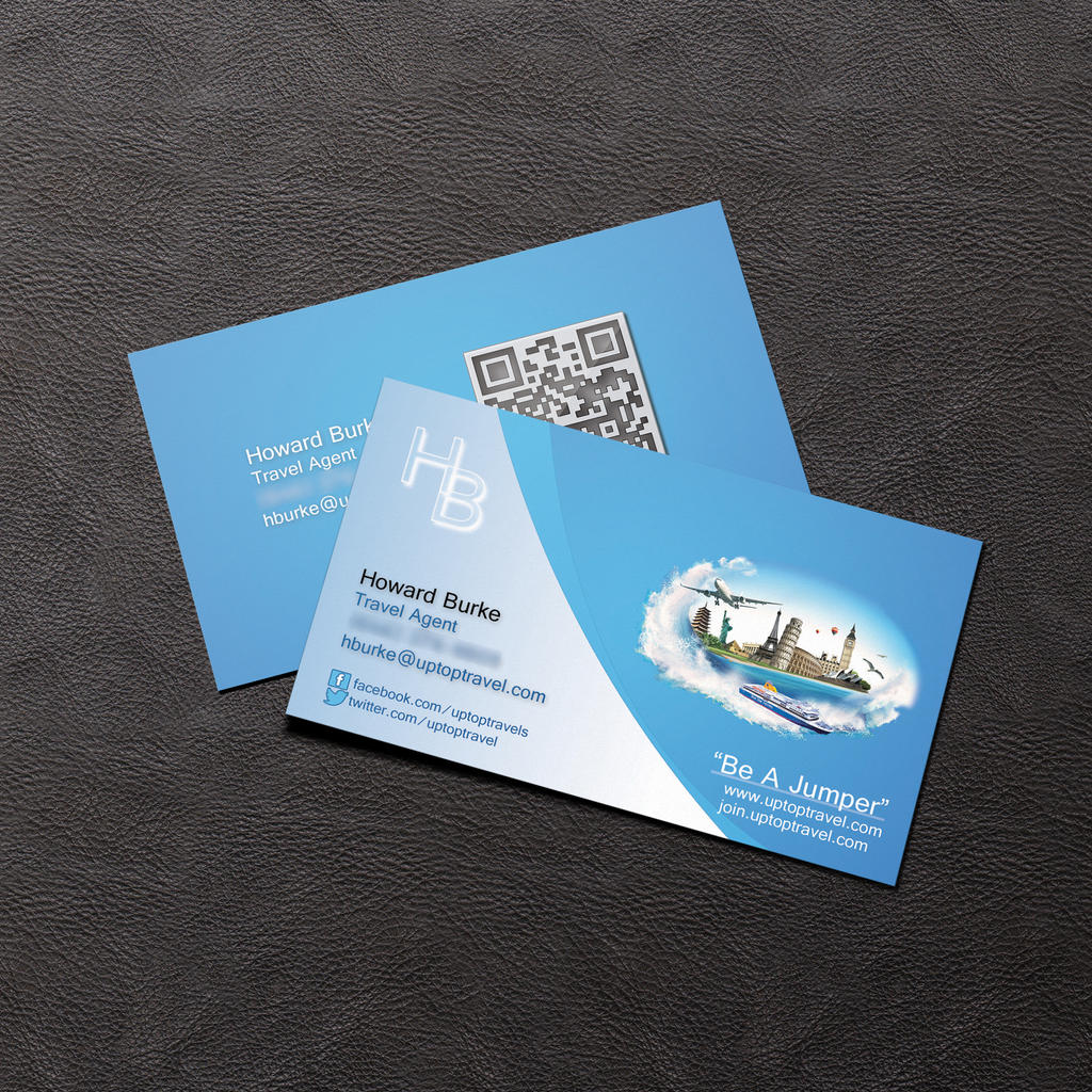 Travel agent business cards unlimitedgamers business card howard burke travel agentagmstudios on colourmoves