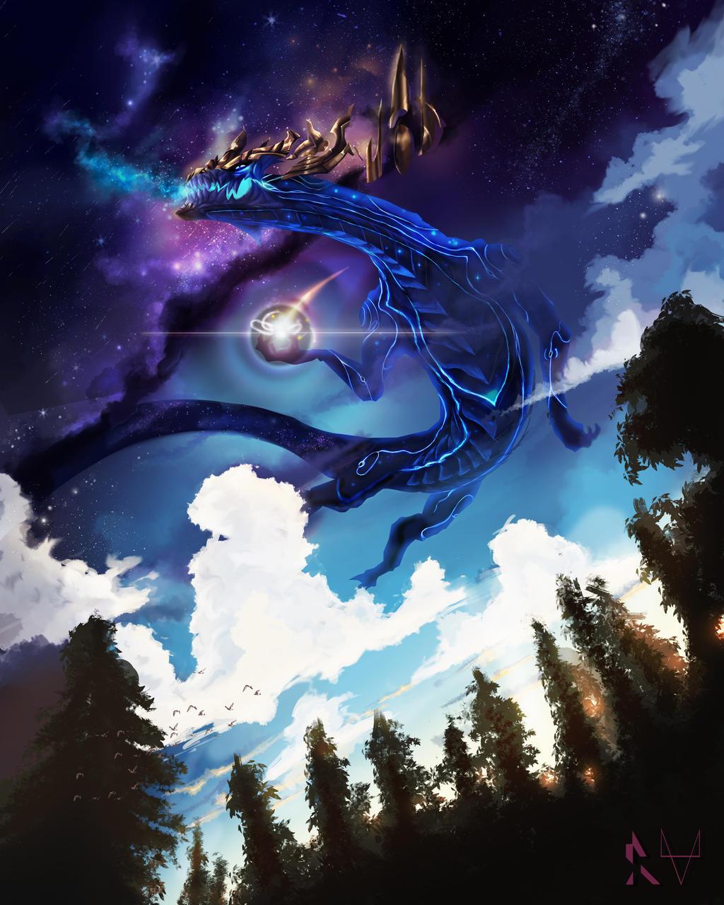 AURELION SOL, STAR FORGING SPACE DRAGON by 8-bitpunch