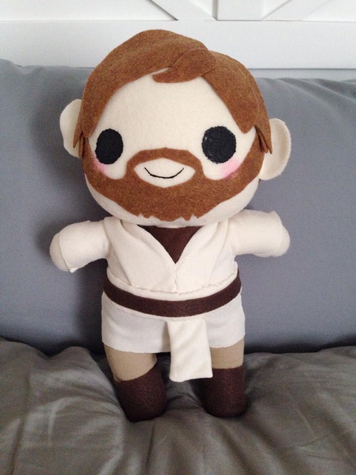 Obi Wan Kenobi chibi plush by orangecorgi