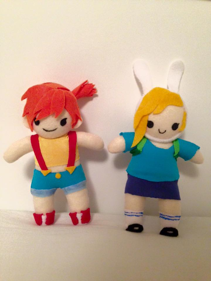 Misty and Fionna small chibi plush by orangecorgi