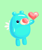 vector blue valentine bear by zuperdzigh