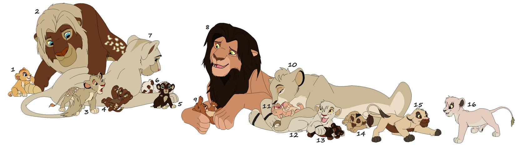 Huge Lion Adoptables 1 -CLOSED!- by Dani-Dan