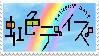 rainbow days stamp by Cashmere-Cuddles