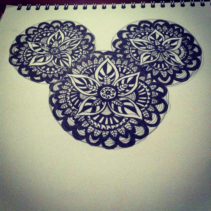 disney mandala tattoo design by living deadgirl24601 on deviantart. Black Bedroom Furniture Sets. Home Design Ideas
