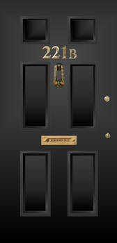 221B Baker Street door