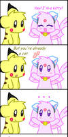 Espeon and Pikachu Comic - Cat by Espyfluff