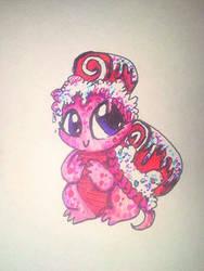 Pink Red Velvet Swirl Tart! by DrawSumi