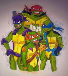 Rise of the Teenage Mutant Ninja Turtles by DrawSumi