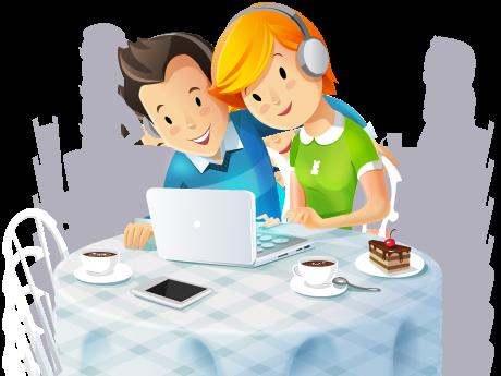 Internet cafe by Vectorape