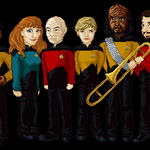 Star Trek TNG Crew by AsterMoody