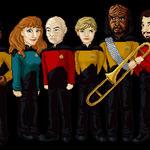 Star Trek TNG Crew by AsterMoody