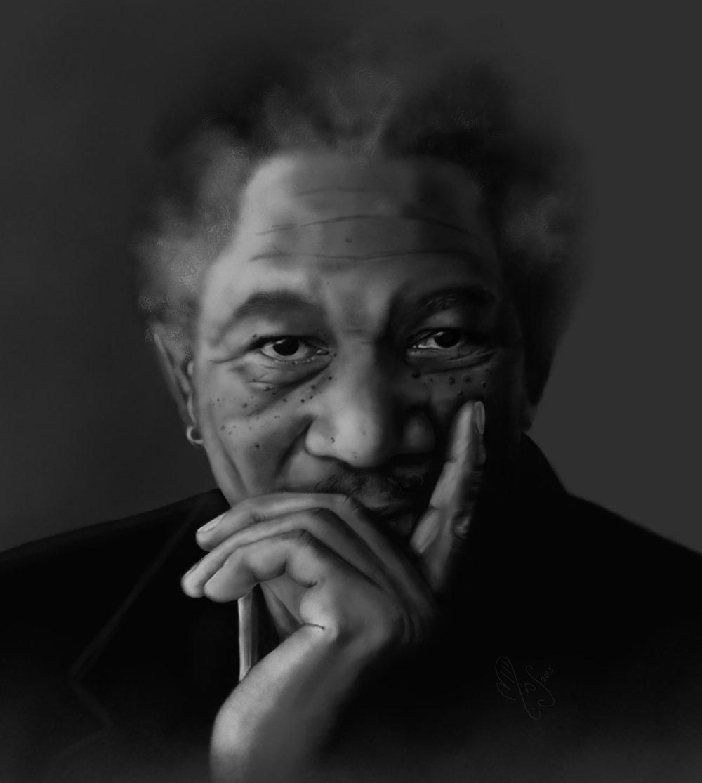 Morgan Freeman by MisScribbler