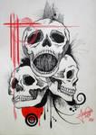 Ink Skull by MaiaDrawTheSky