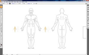 Human outlines for a Physio Diagnosis Sheet