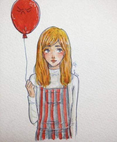 Grumpy balloon by rinneamarysaltive