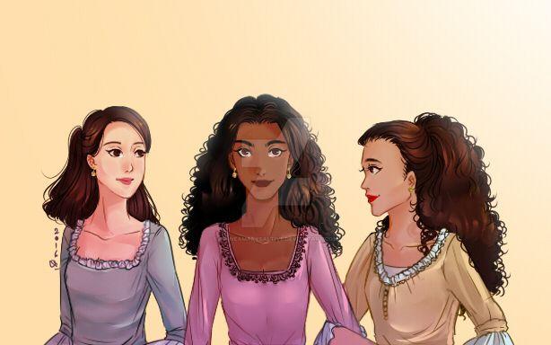 Schuyler Sisters by rinneamarysaltive