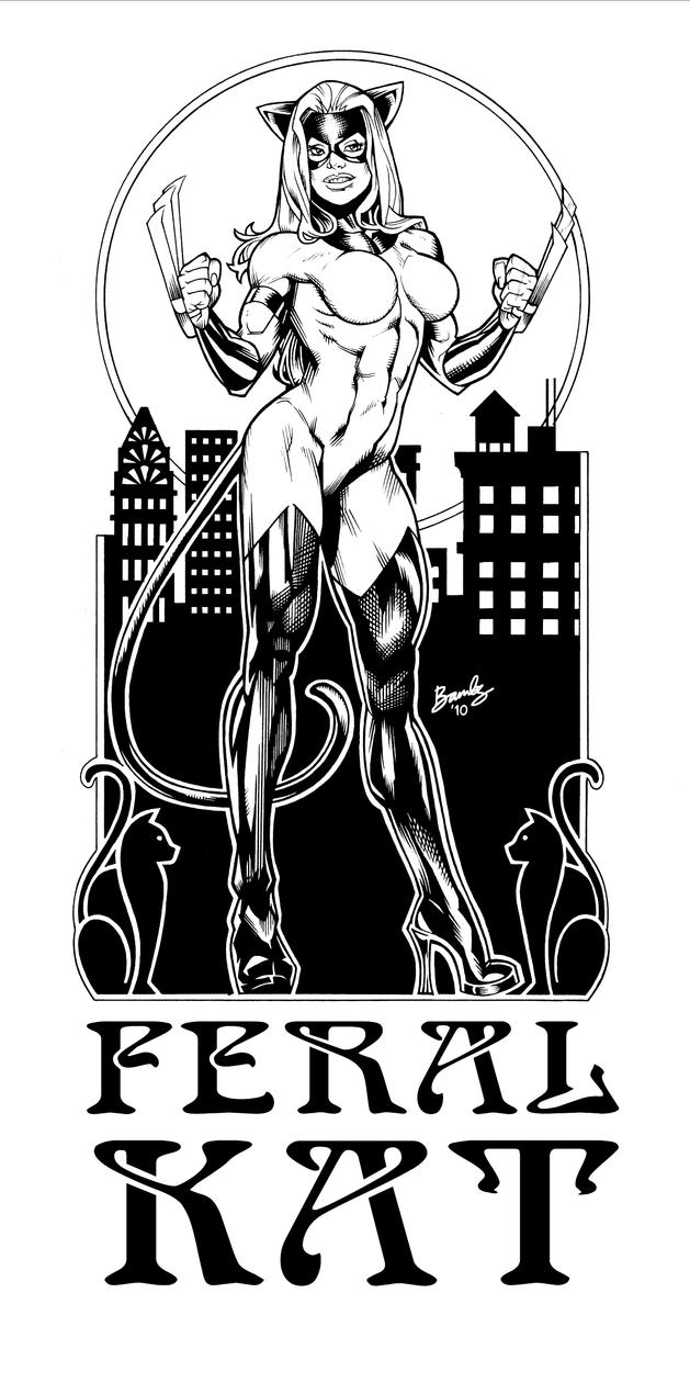 Feral Kat art nouveau by katfood25